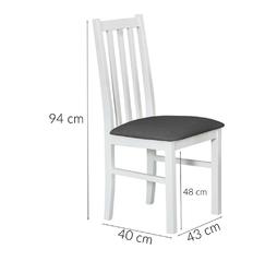 Zestaw stołowy glen ii stół 120-150x80 cm z 6 krzesłami białydąb