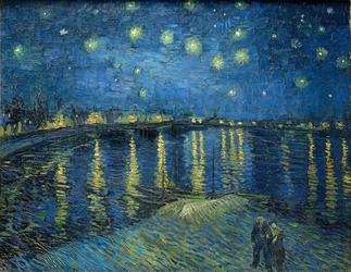 Reprodukcja starry night over the rhone, vincent van gogh