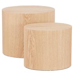 Nowoczesny stolik kawowy trunko w kolorze naturalnym  zestaw 2 szt.
