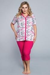 Italian fashion róża kr.r. sp.34 piżama damska