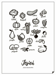 Plakat Jesień - Jedz sezonowo 21 x 30 cm