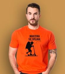 Marzenia się spełnia - chłopczyk t-shirt męski pomarańczowy m