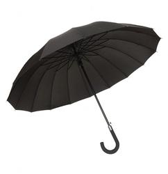 Długi parasol 16 żeber, czarny