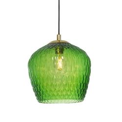 Kaspa :: lampa wisząca venus 1 klosz czarno-zielona