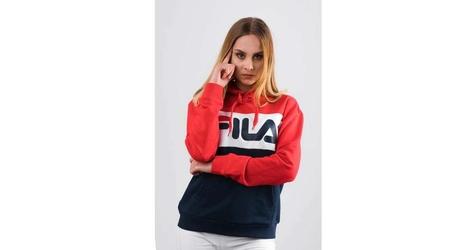 Fila women lori hoodie sweat g06 black iris true red bright white xs wielokolorowy