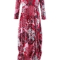 Sukienka shirtowa, rękawy 34 bonprix czerwony klonowy wzorzysty