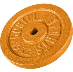 15 kg obciążenie na sztangę żeliwne złote 30 mm gorilla sports