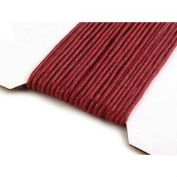 Woskowany sznurek bawełniany 2mm1m - bordowy - bord