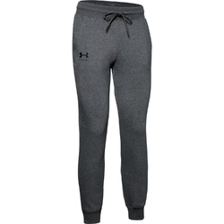 Spodnie dresowe damskie under armour rival fleece sportstyle graphic pant - szary