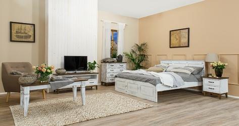 Łóżko ze stelażem vinti 160x200 cm drewniane