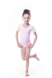 Body gimnastyczne lycra b15 krótki rękaw shepa