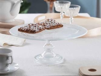 Patera na ciasto i tort szklana na nóżce edwanex 34 cm