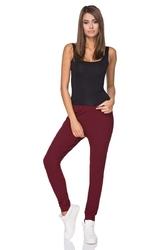 Bordowe spodnie dresowe z elastycznym pasem