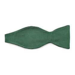 Zielona mucha jedwabna wiązana VAN THORN- prosty splot