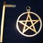 Pentagram 2 złocona gwiazda