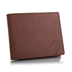Skórzany męski portfel betlewski bpm-gtan-66 brązowy