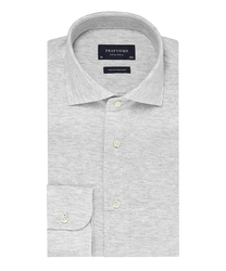 Elegancka siwa koszula męska z dzianiny slim fit 40