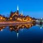 Wrocław, wieczorne widoki - plakat premium wymiar do wyboru: 42x29,7 cm
