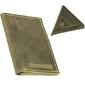 Skórzany zestaw portfel i bilonówka brodrene sw03 + cw01 zielony - oliwkowy