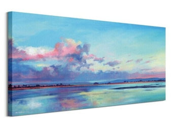 Salt marsh, evening light - obraz na płótnie