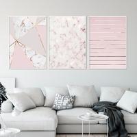Zestaw trzech plakatów - golden pink marble , wymiary - 50cm x 70cm 3 sztuki, kolor ramki - czarny