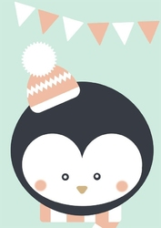 Pingwinek  - plakat wymiar do wyboru: 40x50 cm