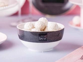 Miska  salaterka porcelanowa altom design more love black 14 cm