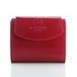Czerwony portfel damski z naturalnej skóry licowej