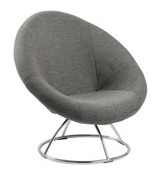 Designerski fotel na metalowej podstawie lund szary