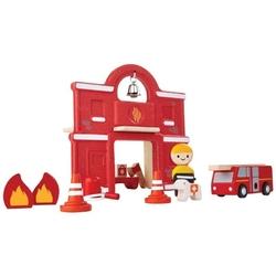 Straż pożarna zestaw drewnianych figurek