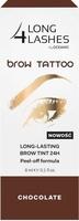 Long 4 lashes brow tattoo preparat żelowy do brwi 24h chocolate 8ml