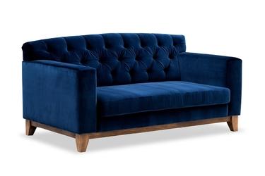 Sofa ros welurowa 2-osobowa deluxe - welur łatwozmywalny petrol