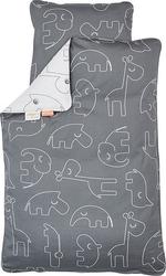 Pościel dla dziecka contour 135 x 100 cm szara