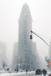 Flatiron w śniegu - duży plakat