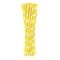 słomki papierowe żółte w białe groszki 24 szt.