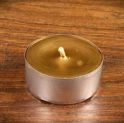 Tealight - świeca z wosku herbaciarka - złota 6 sztuk