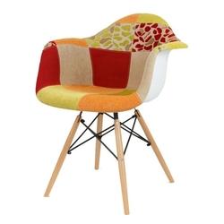 Nowoczesny fotel kr012f patchwork 4 buk