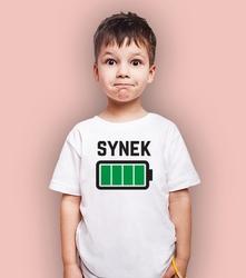 Bateria - synek t-shirt dziecięcy biały 122