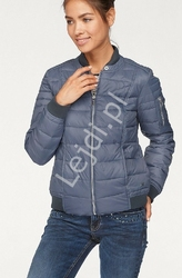 Niebieska modna kurtka damska, bomberka tom tailor