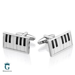 Spinki do mankietów x2 klawisze muzyczne