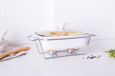 Naczynie żaro  forma do zapiekania z podgrzewaczem ceramiczne prostokątne altom design mesa 1,4 l