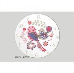 Drewniany zegar ścienny ptaszki 30cm