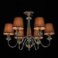 Elegancki żyrandol na 6 żarówek - brązowe klosze mw-light elegance 355013506