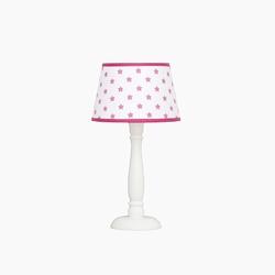 Lampka nocna roomee decor - biała w różowe gwiazdki