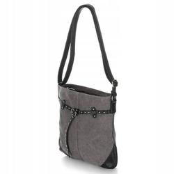 Mała torebka listonoszka damska na ramię harolds szara