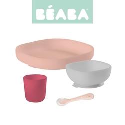 Beaba komplet naczyń z silikonu pink