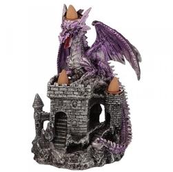 Fioletowy smok na zamku - podstawka na kadzidła backflow