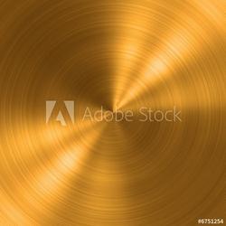 Plakat na papierze fotorealistycznym okrągła metalowa szczotkowana tekstura
