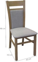 Krzesło do jadalni declan 2 brązoweszare