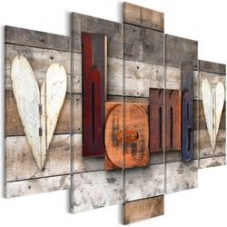 Obraz - czarodziejski domek 5-częściowy szeroki